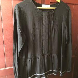 LOFT black peplum blouse